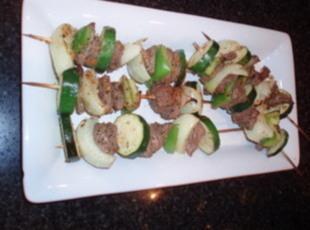 Beef & Vegetable Kabobs  Recipe