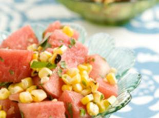 Watermelon and Grilled Corn Salad Recipe