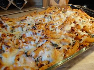 Low Fat Baked Ziti with Spinach Recipe