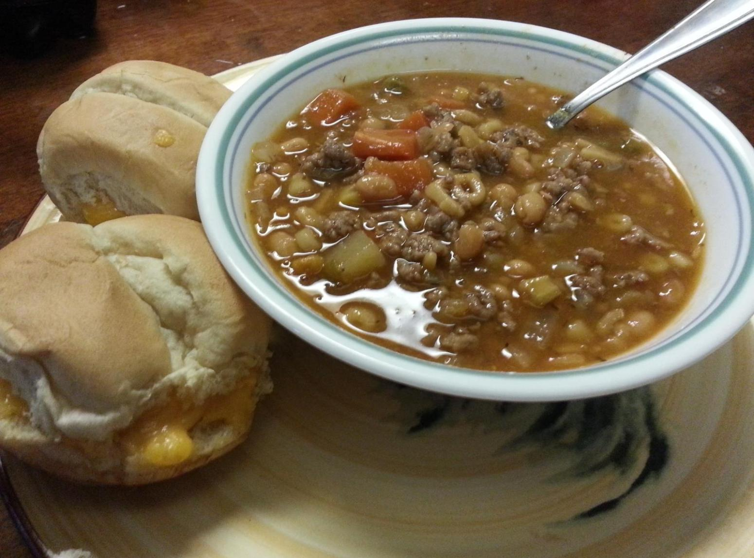 Ranch Stew & Cheese Biscuits Recipe