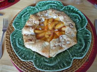 Peach and Almond Galette