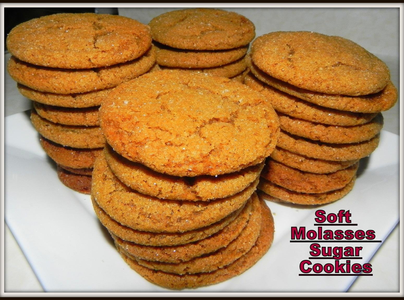 Soft Molasses Sugar Cookies Recipe