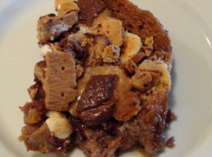 Candy's Toffee S'mores Bread Pudding