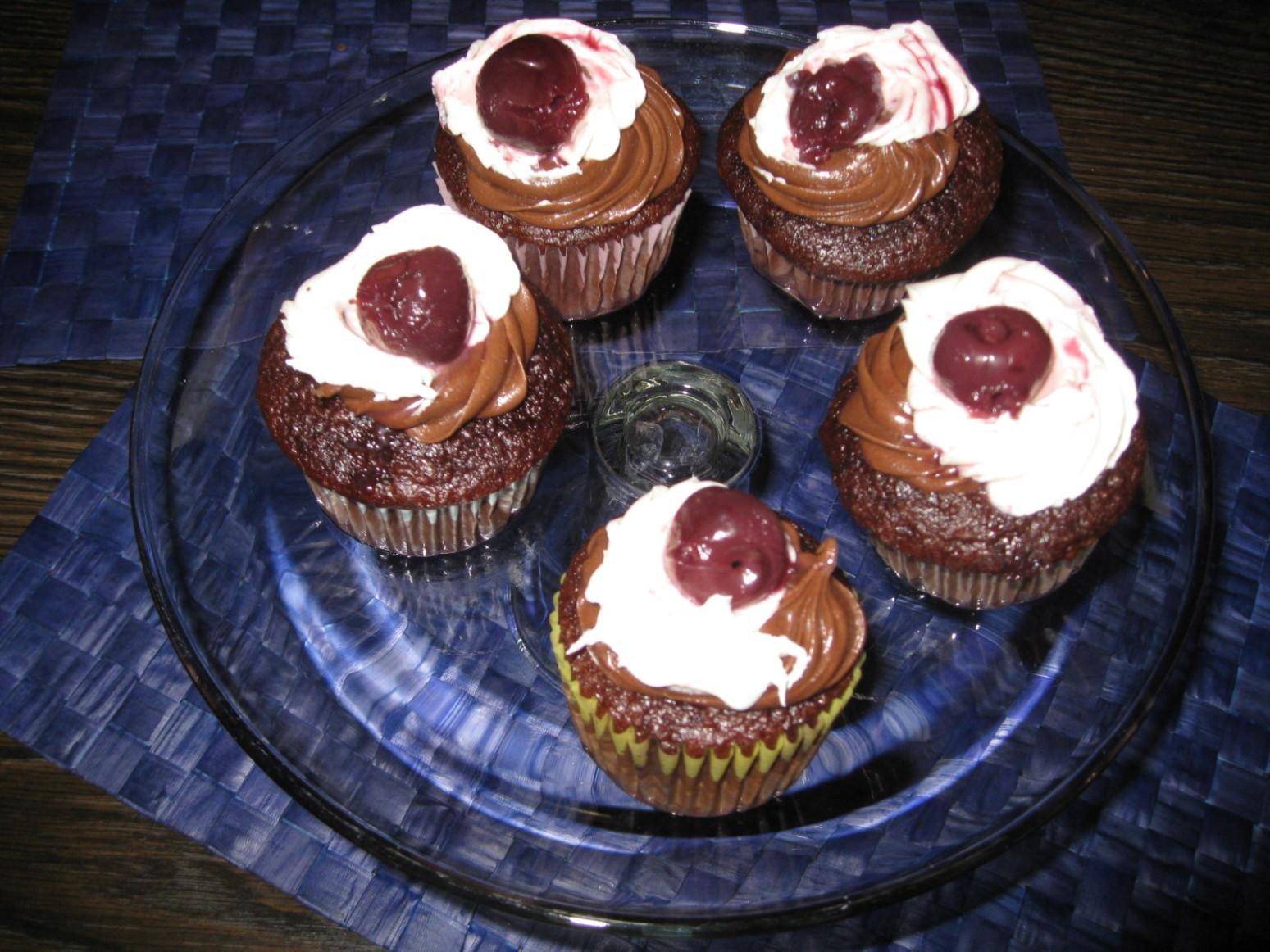 Chocolate Black Cherry Cupcakes Recipe