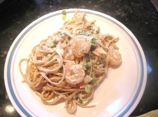 Weight Watchers Creamy Garlic Shrimp w/ Veggies Recipe