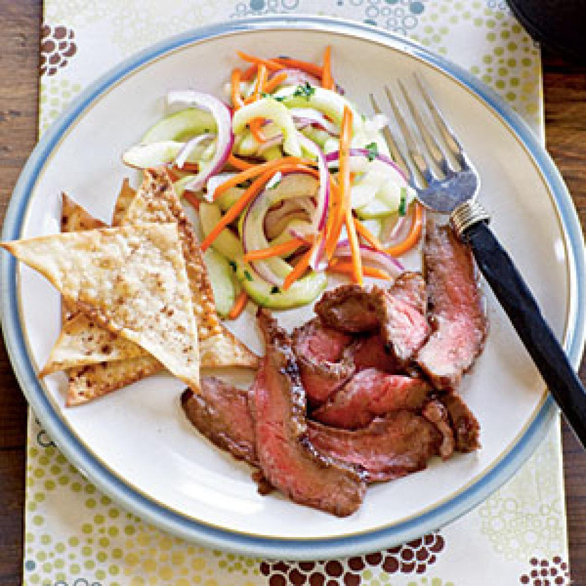 flank steak skewers eats beer marinated orange ginger flank steak