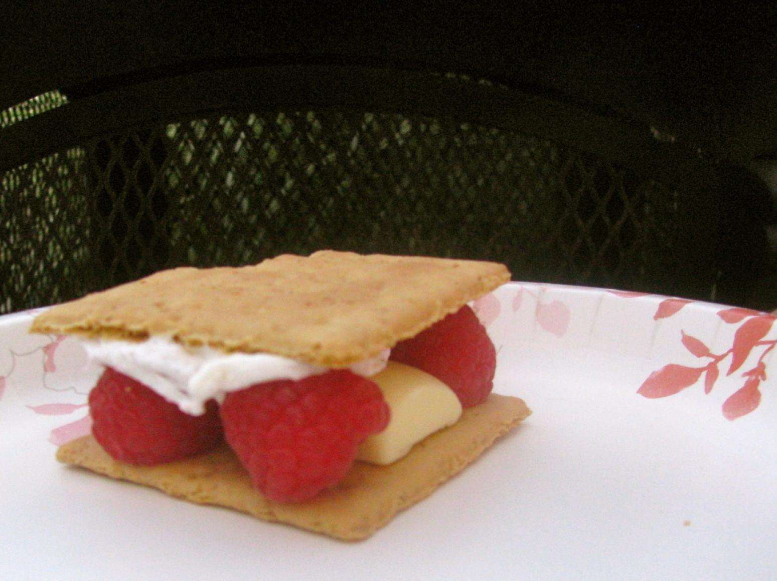 White Chocolate Raspberry S'mores Recipe