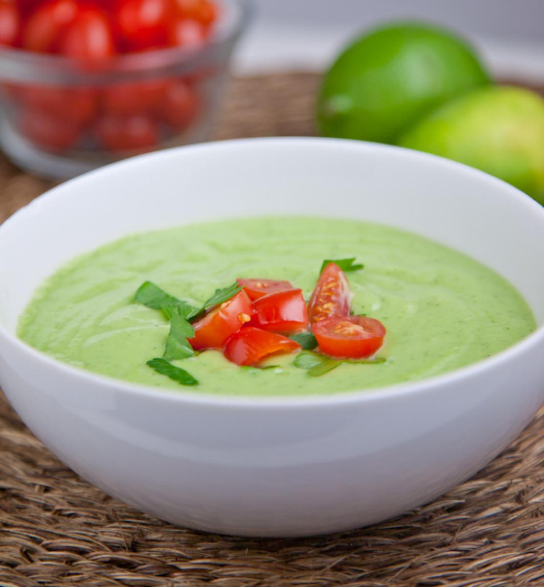avocado soup with dungeness crab spicy cucumber avocado soup chilled ...