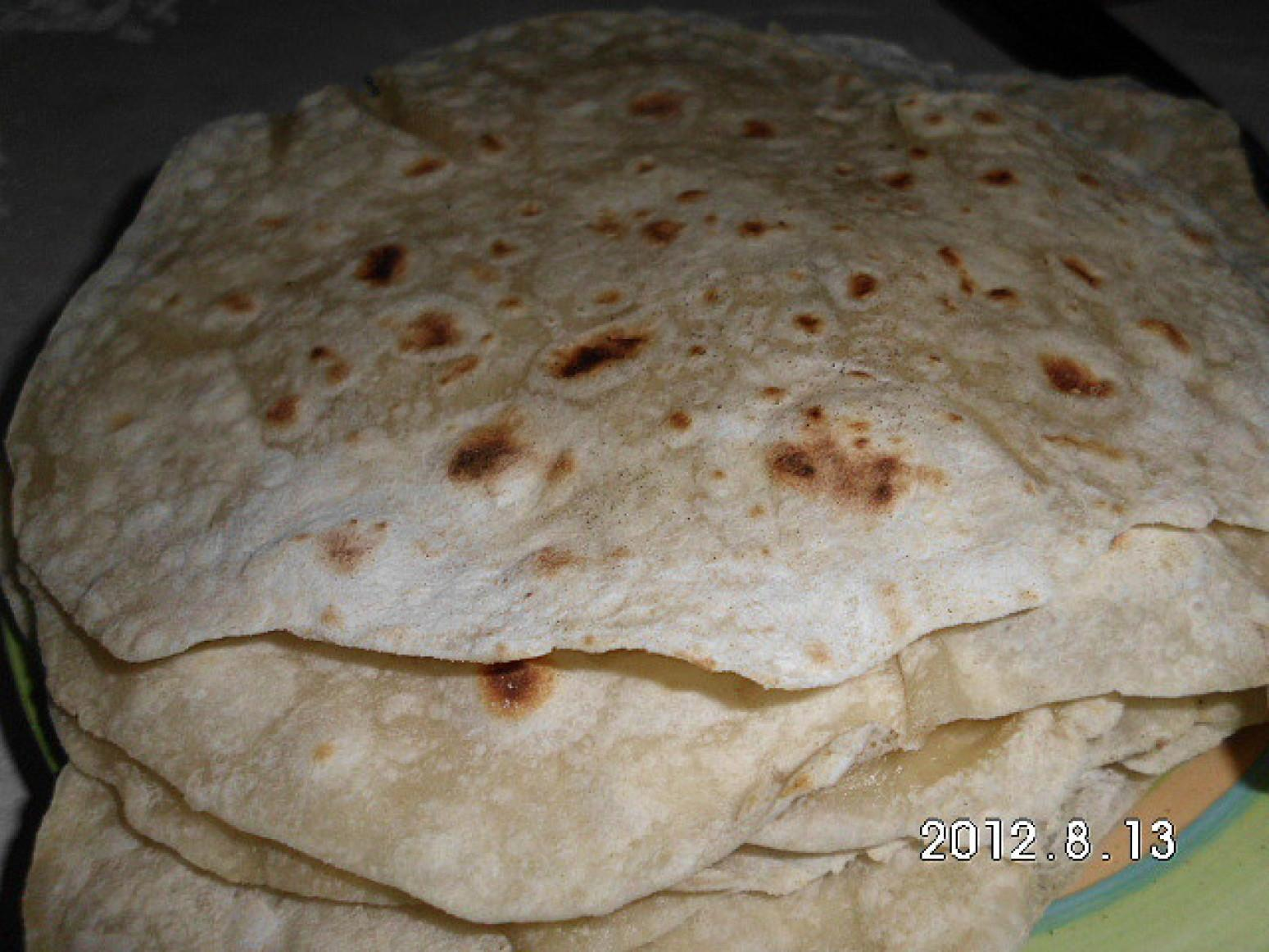 Flour Tortillas-sodium free (low sodium opt) Recipe