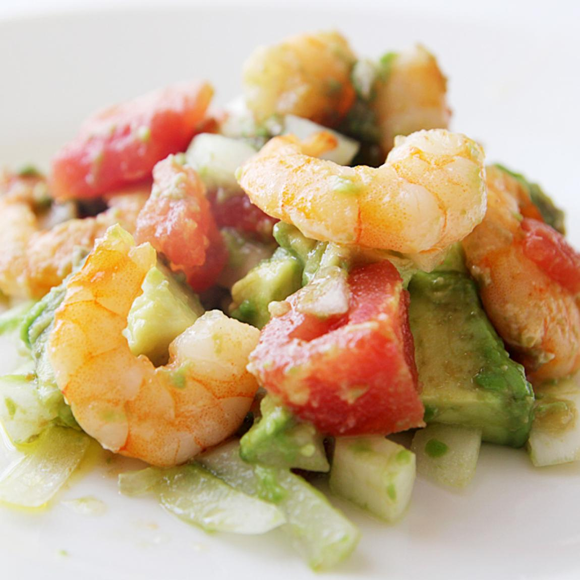 Avocado and Shrimp Salad Recipe | Just A Pinch Recipes