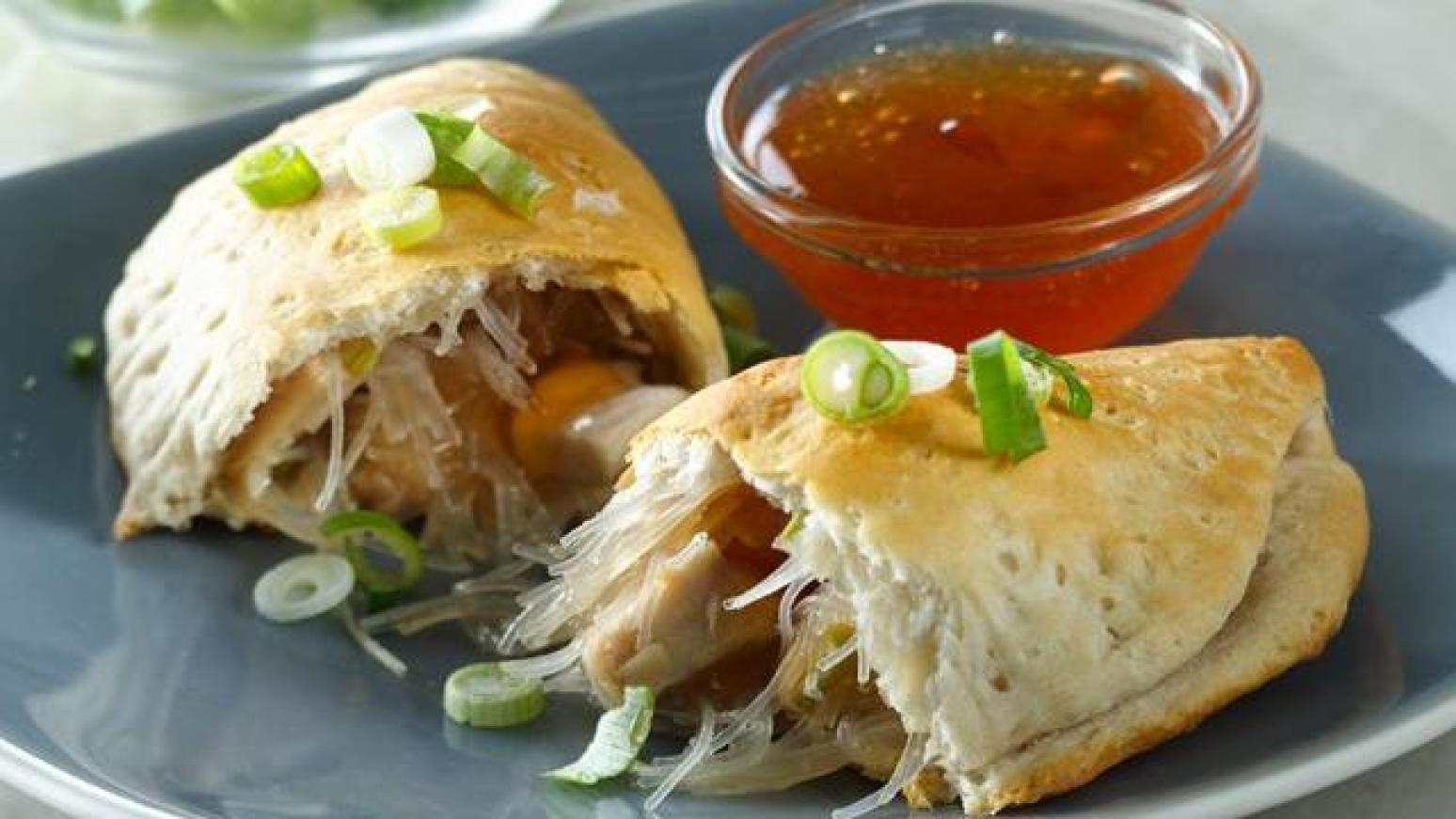 Grands Mu Shu Chicken Hand Pies Recipe | Just A Pinch Recipes