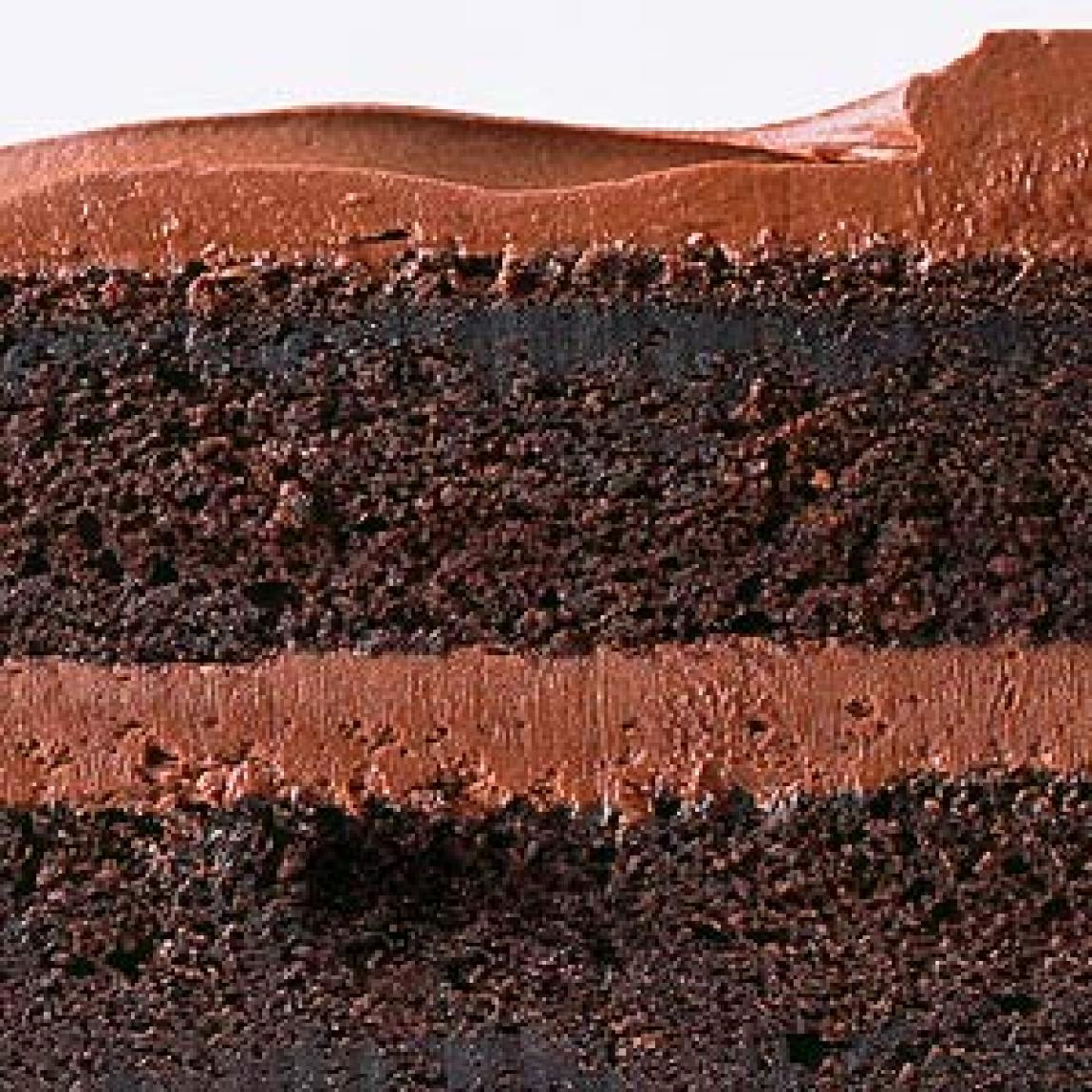 Chocolate Sour Cream Cake With Fudgy Frosting Recipe