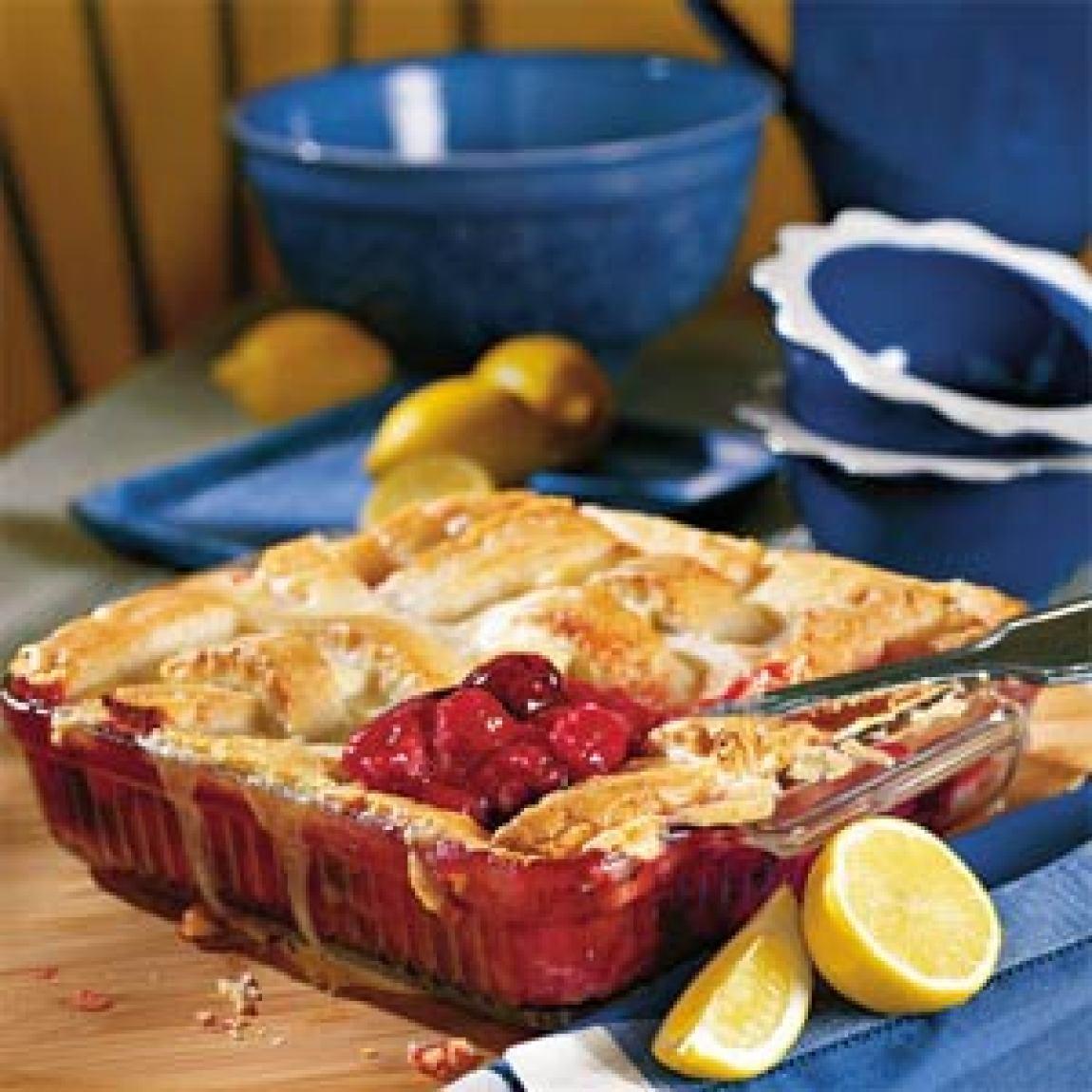 TooEasy Cherry Cobbler Recipe | Just A Pinch Recipes