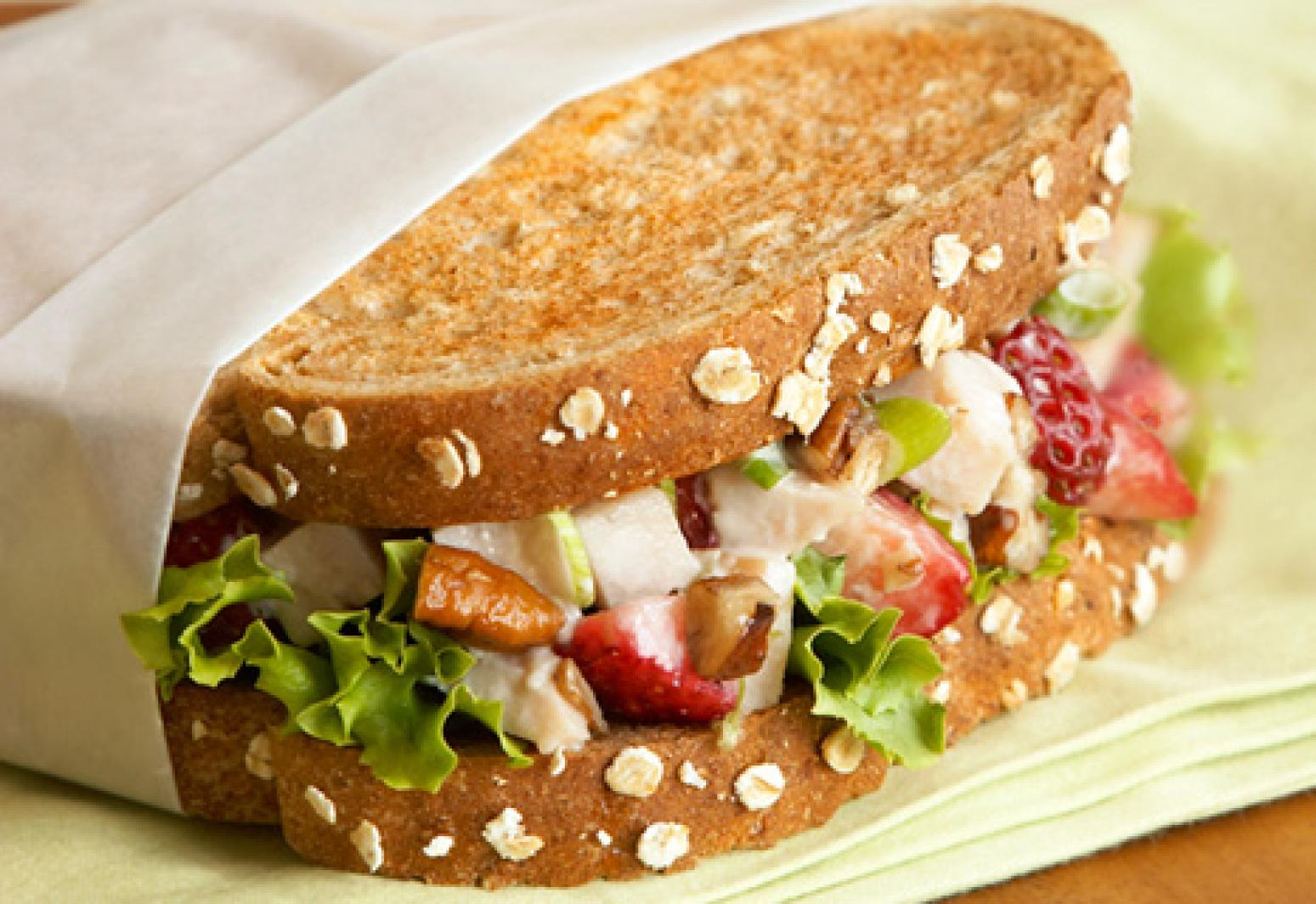 Balsamic berry and turkey salad sandwiches recipe just a for Thanksgiving turkey sandwich recipe