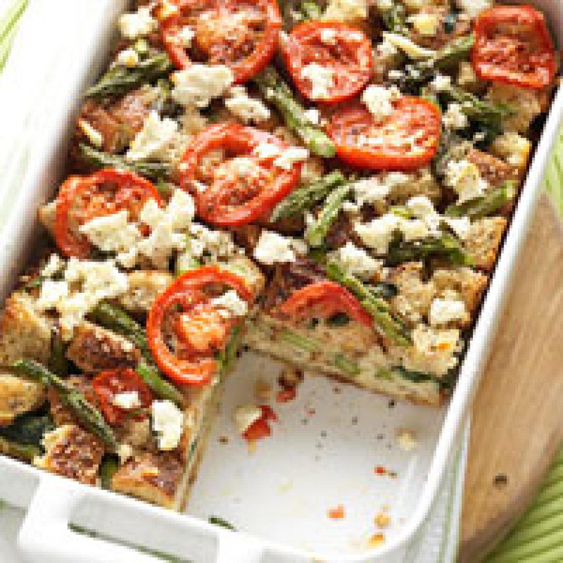 tomato spinach and feta strata recipe just a pinch recipes