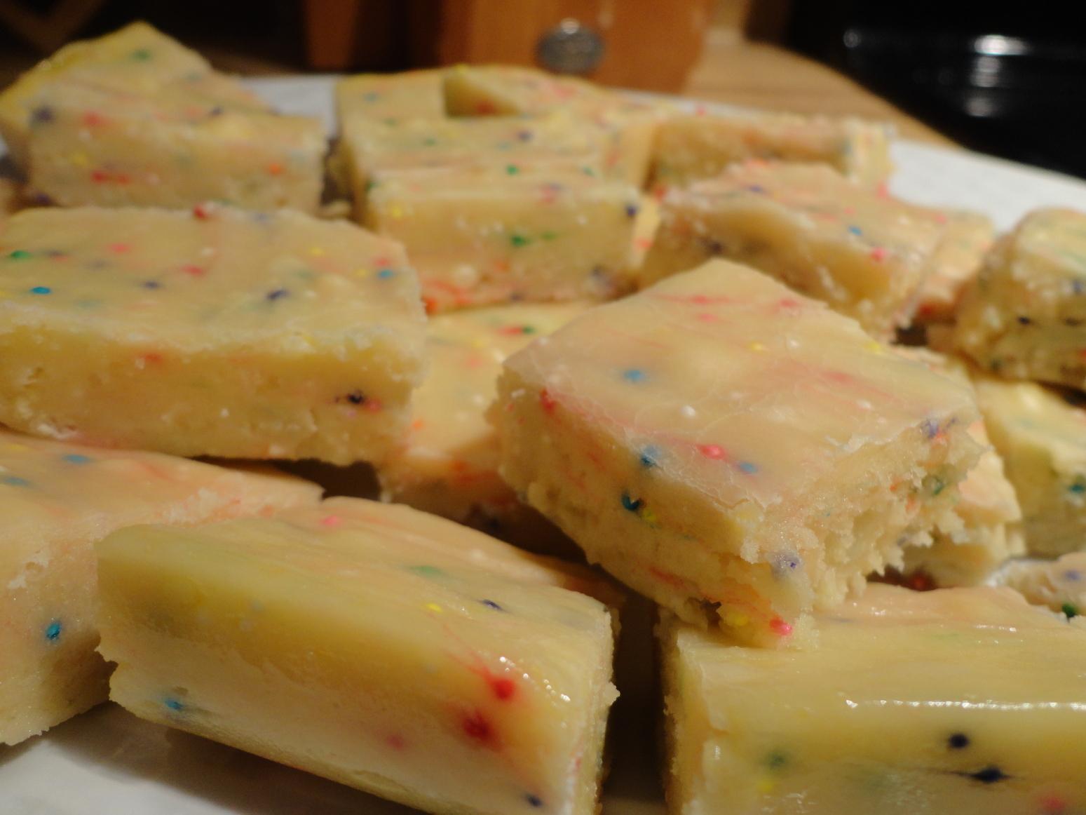 Microwave Cake Batter Fudge Recipe