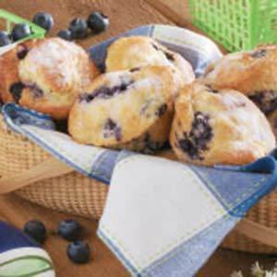 Sour Cream Blueberry Muffins Recipe | Just A Pinch Recipes