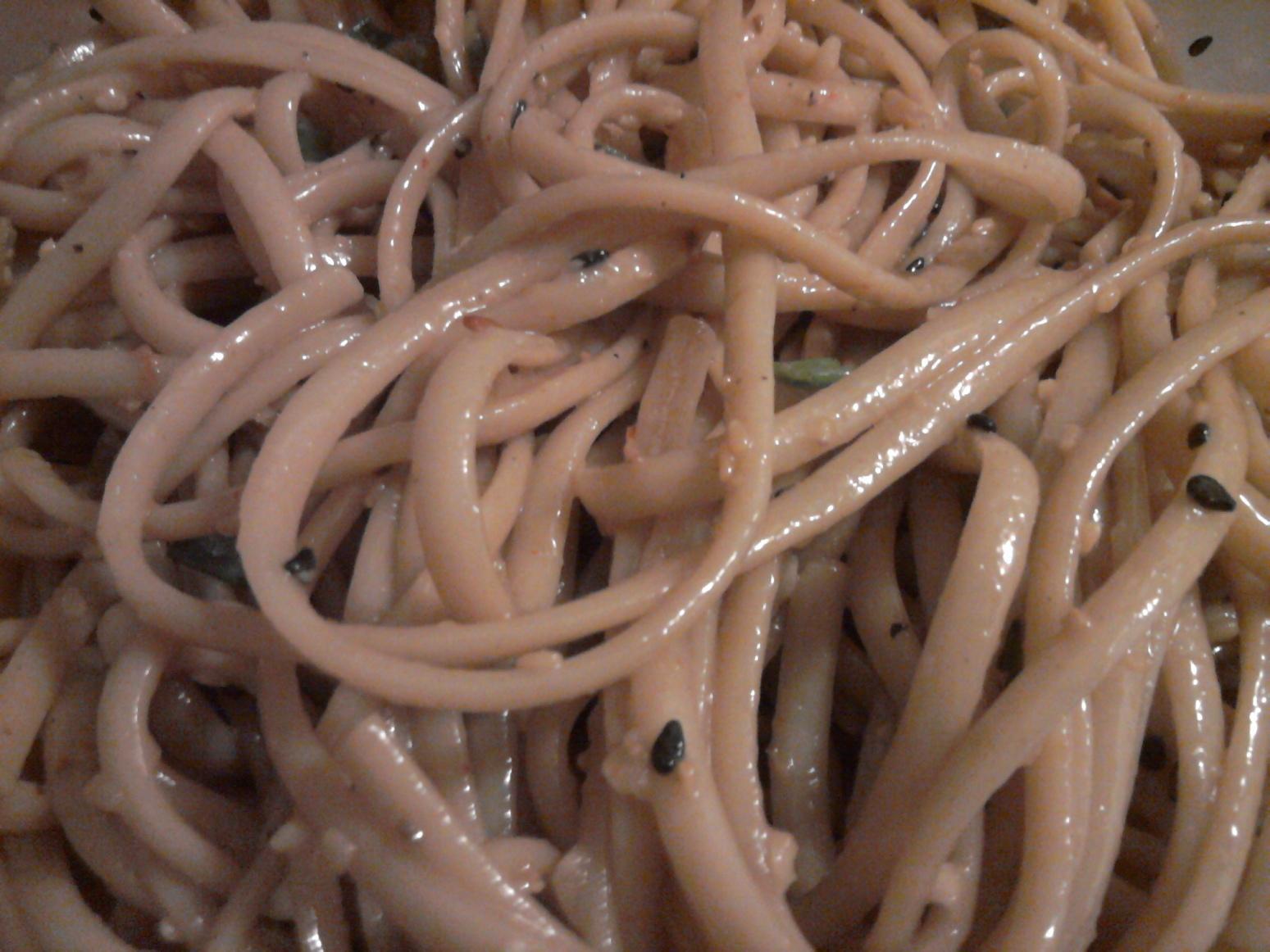 Cold Peanut Sesame Noodles Recipe | Just A Pinch Recipes