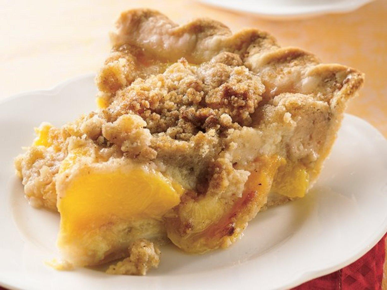 Peach Crumble Pie Recipe | Just A Pinch Recipes