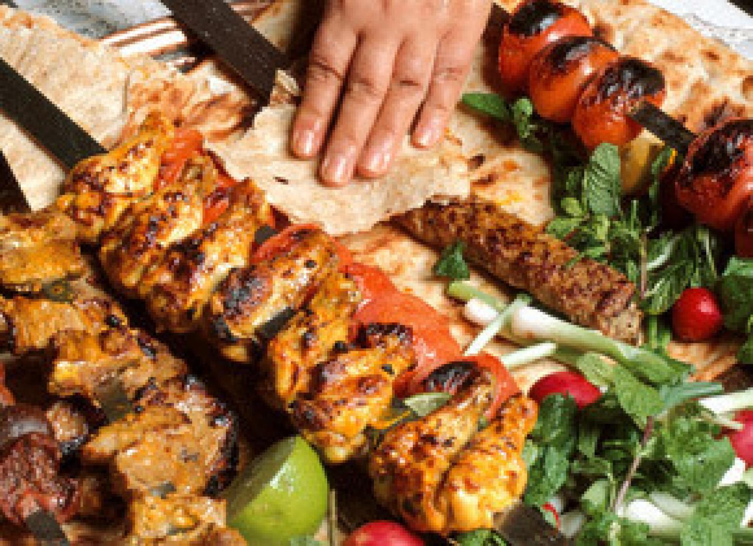 Jujeh kabob persian chicken kabob recipe just a pinch for Afghan kabob cuisine