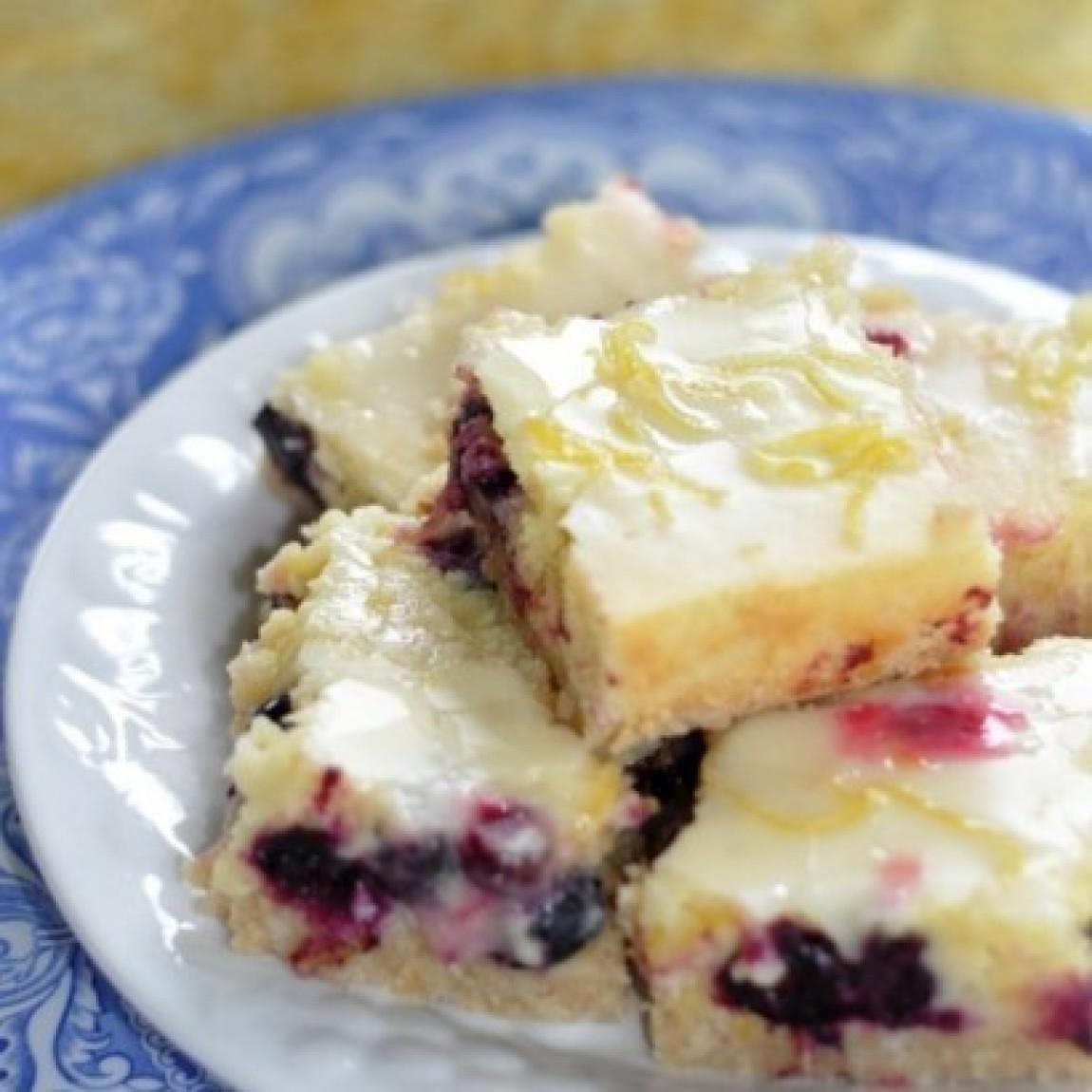 Lemon Blueberry Bars W/ Coconut crust Recipe