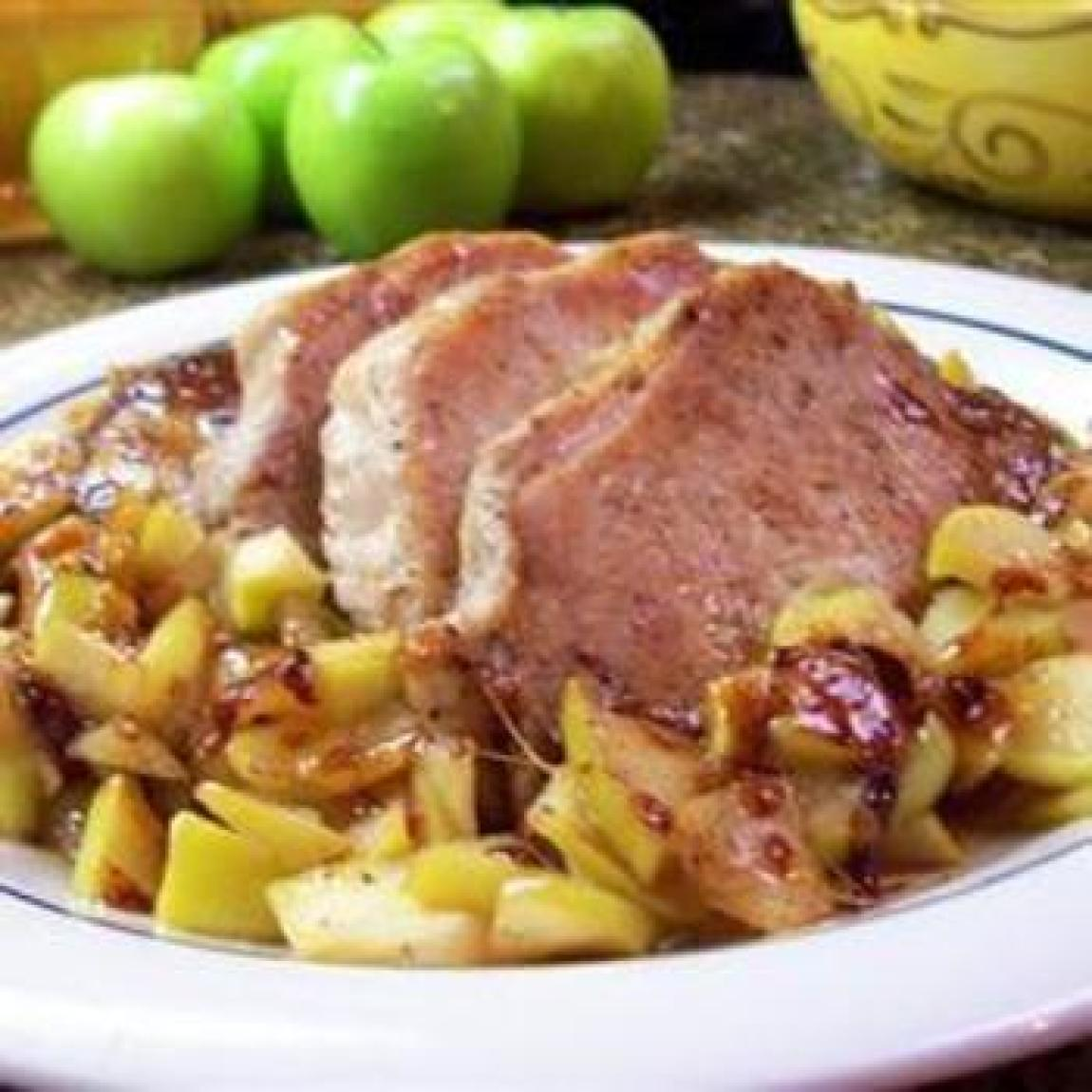 Caramel Apple Pork Chops Recipe | Just A Pinch Recipes