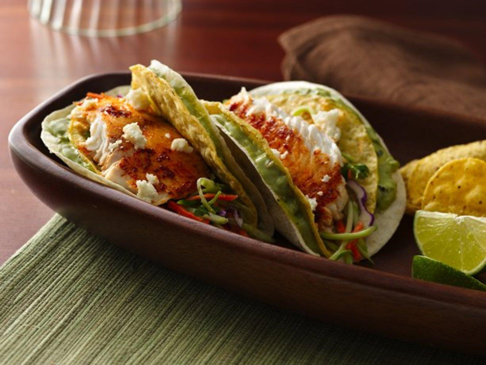 Soft and crunchy fish tacos recipe just a pinch recipes for Fish taco recipe