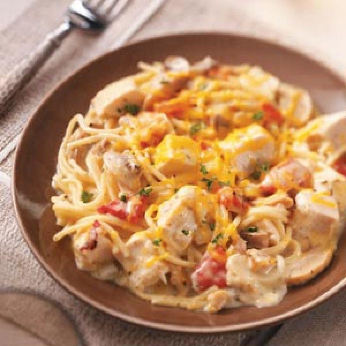 Chicken Spaghetti Casserole Recipe | Just A Pinch Recipes