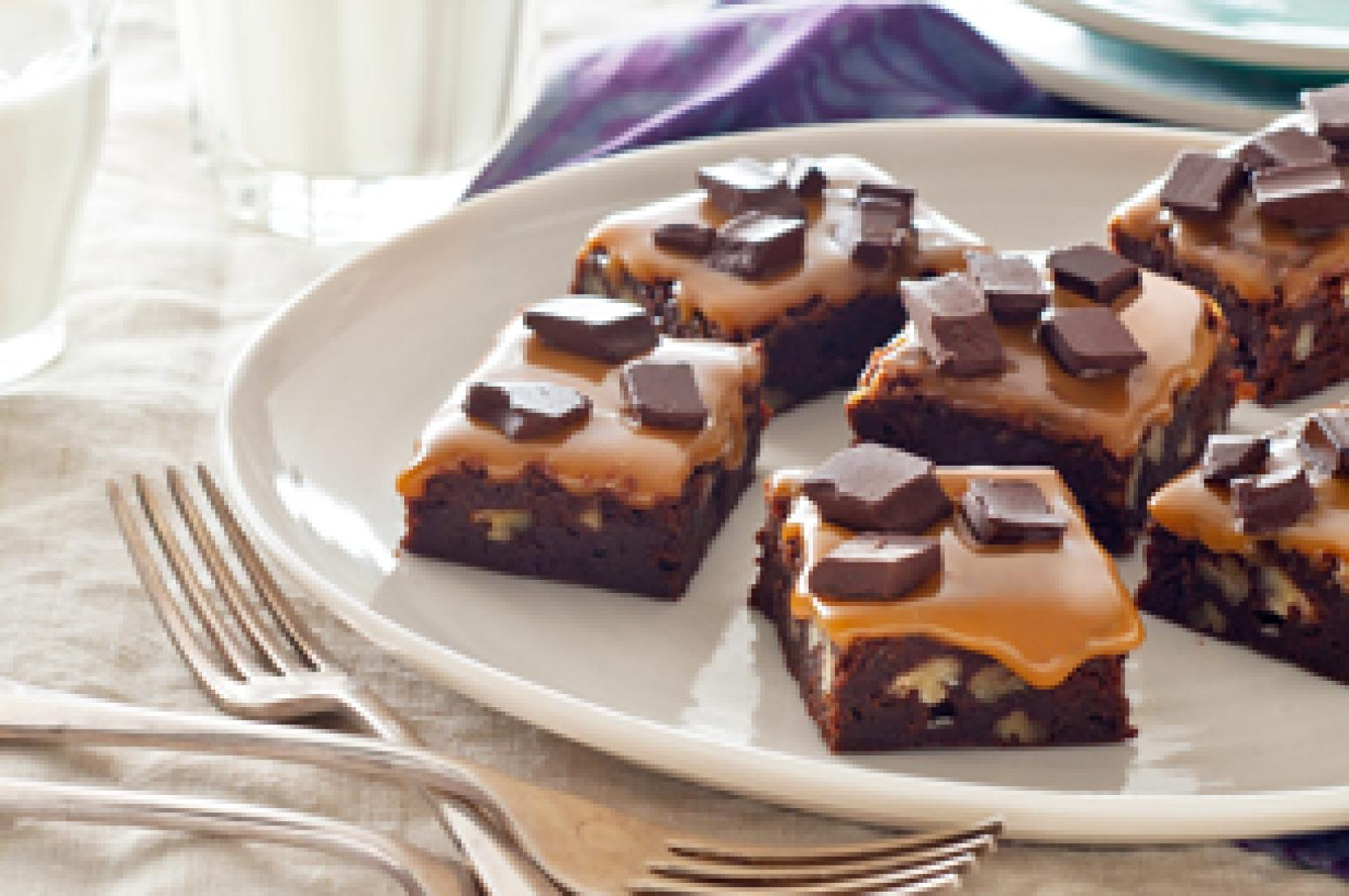 Chocolate Bliss-Caramel Brownies Recipe | Just A Pinch Recipes