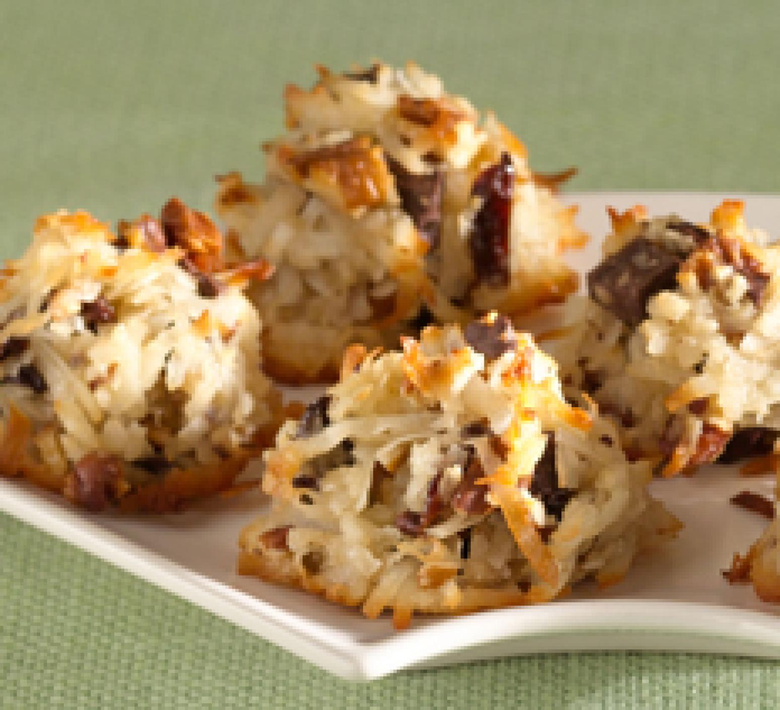 Chocolate Cherry Coconut Macaroons Recipe | Just A Pinch Recipes