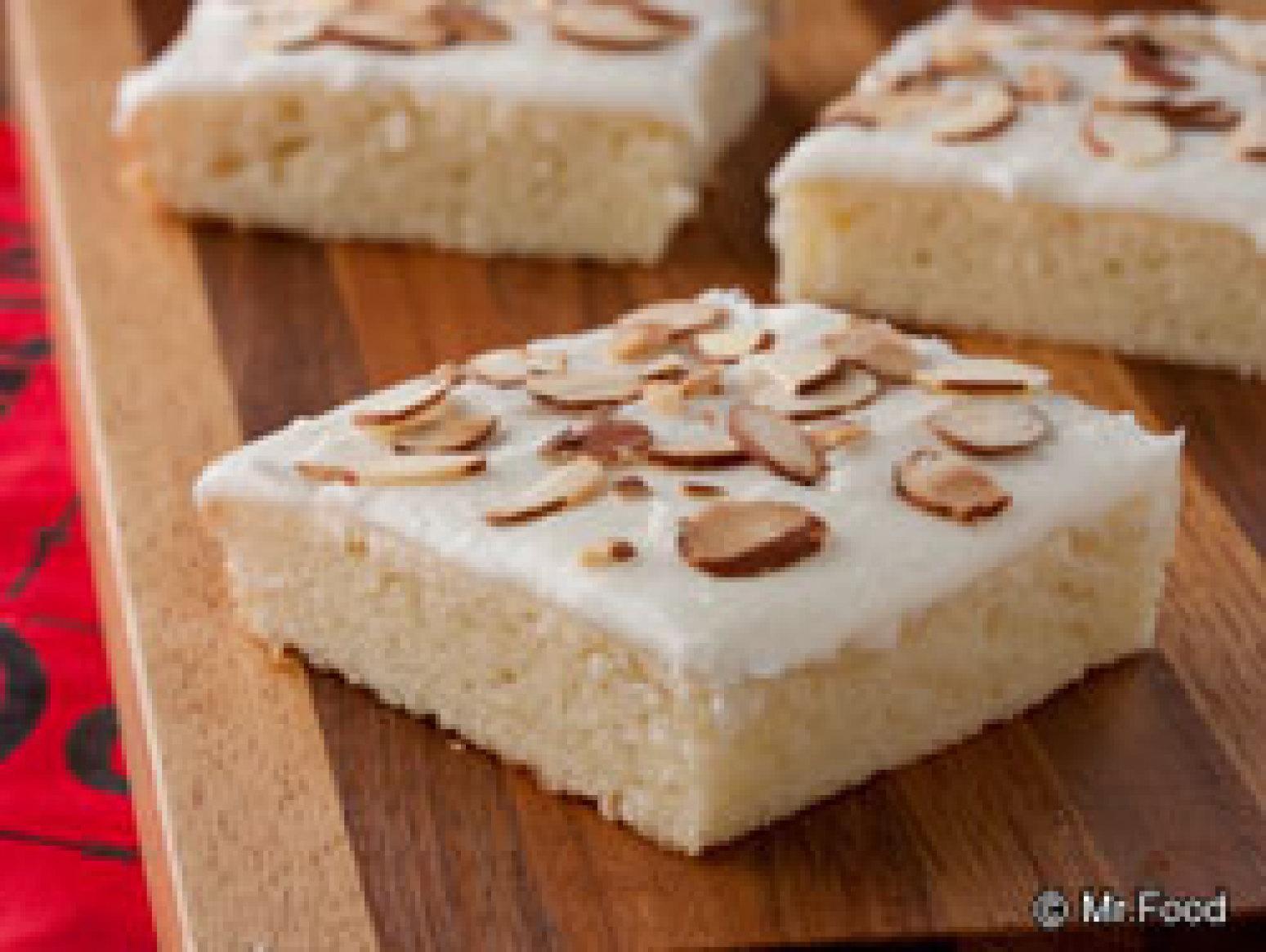 White Texas Sheet Cake With Sour Cream