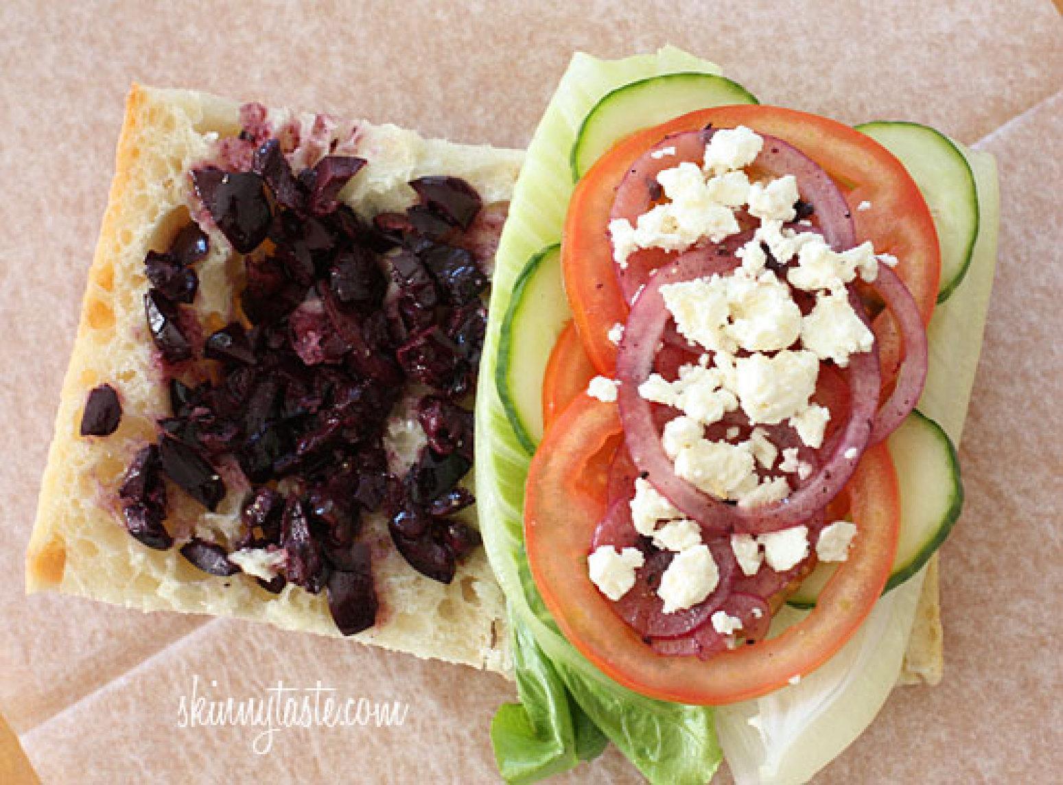 Greek Salad Sandwich Recipe | Just A Pinch Recipes
