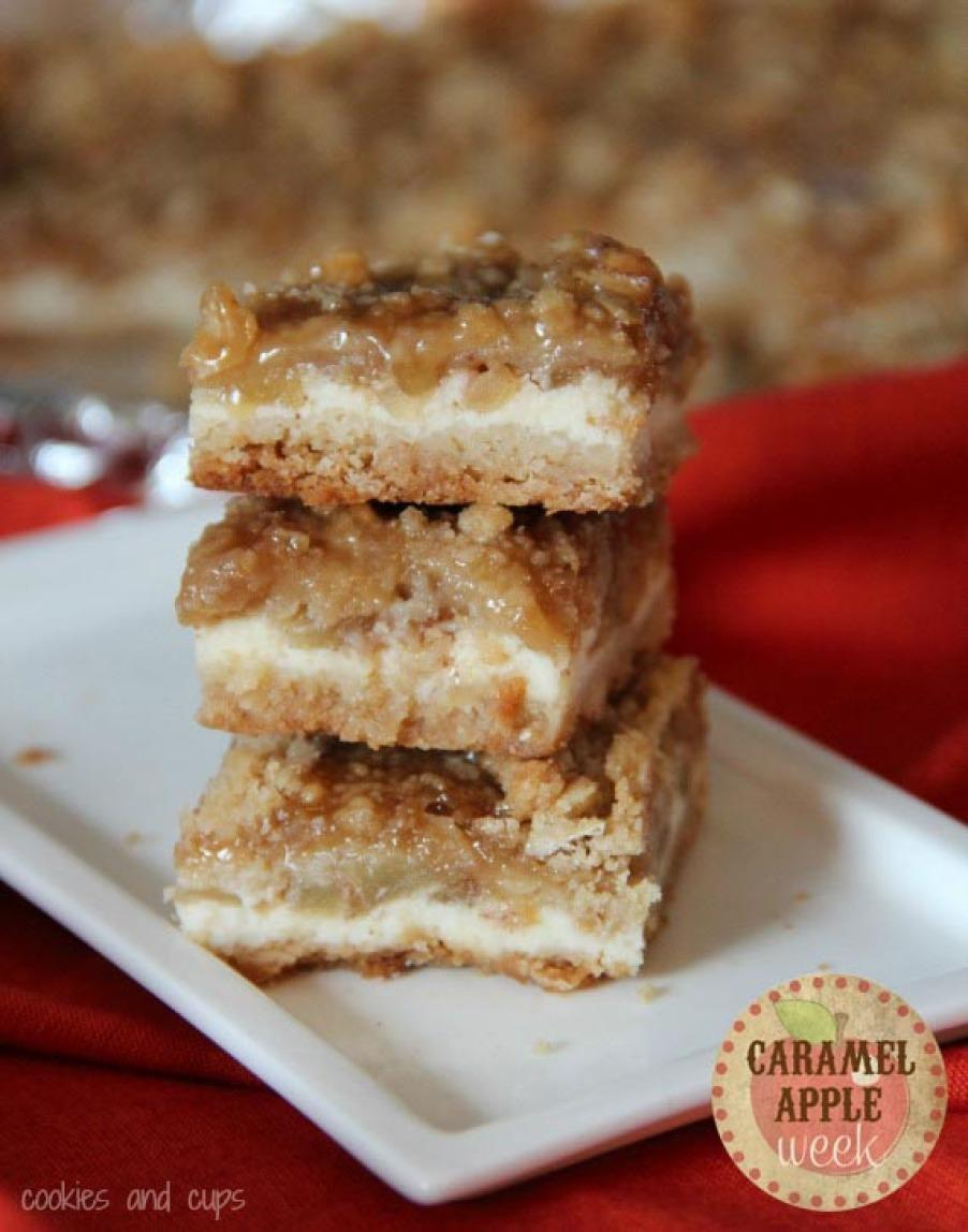 Caramel Apple Cheesecake Bars Recipe | Just A Pinch Recipes