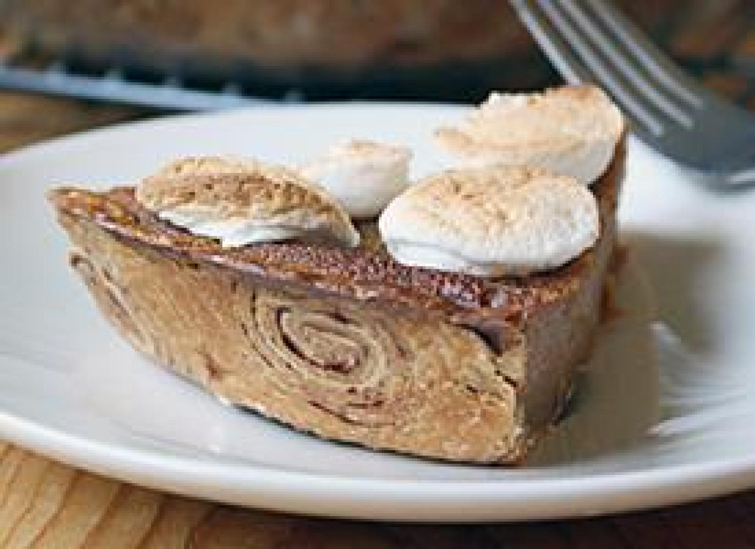 Sweet Potato Pie with a Cinnamon Roll Crust Recipe | Just A Pinch ...