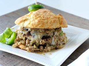 Biscuits and Gravy Burger
