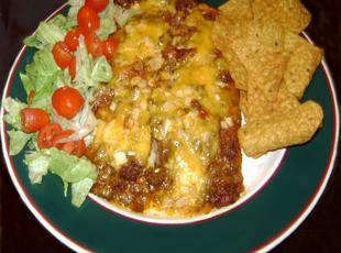 TexMex Chili Cheese Enchiladas
