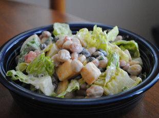 Three Bean and Cheese Salad Recipe