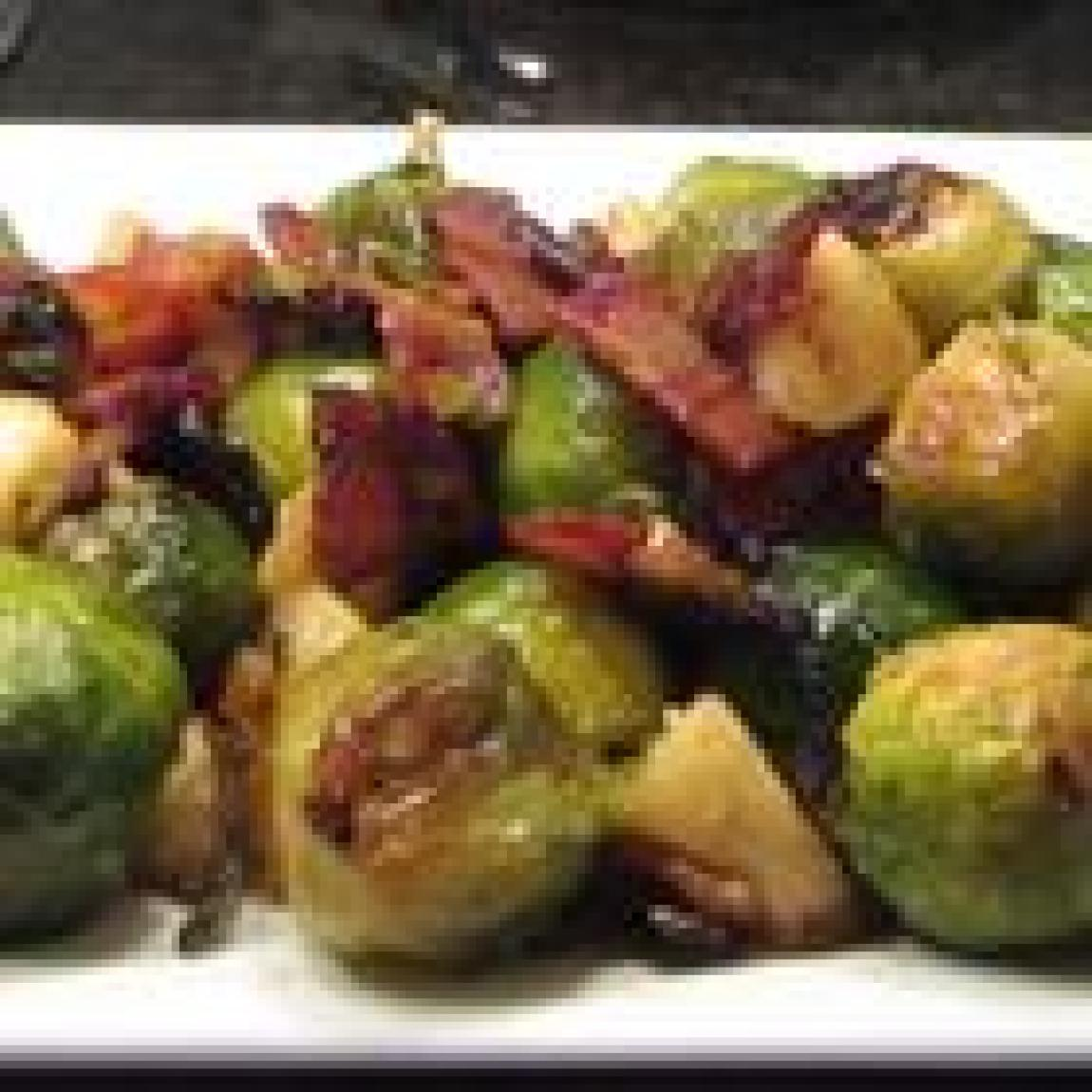 Roasted Apples and Brussels Sprouts Recipe | Just A Pinch Recipes