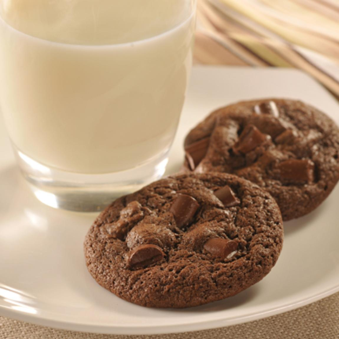 Double Chocolate Chunk Cookies Recipe | Just A Pinch Recipes