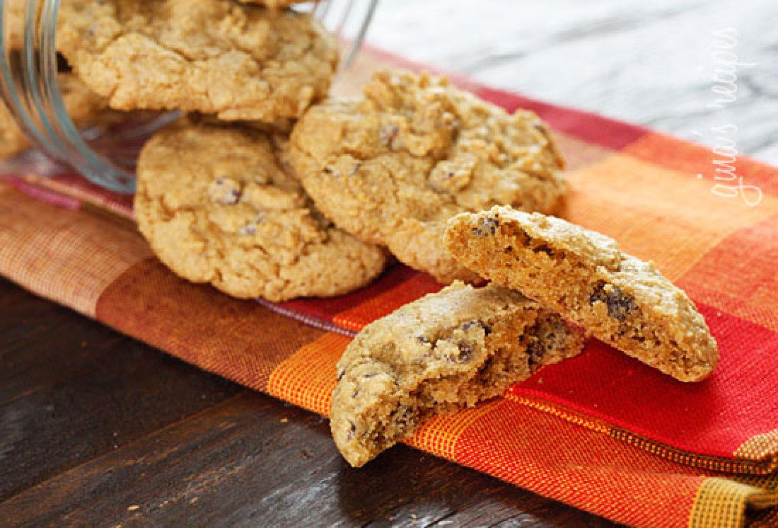 Low-fat Pumpkin Spiced Chocolate Chip Cookies Recipe | Just A Pinch ...