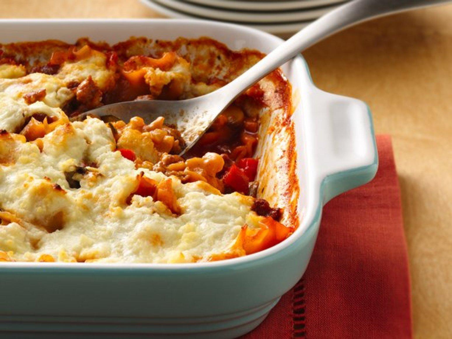 Three Cheese-Sausage Lasagna Recipe | Just A Pinch Recipes