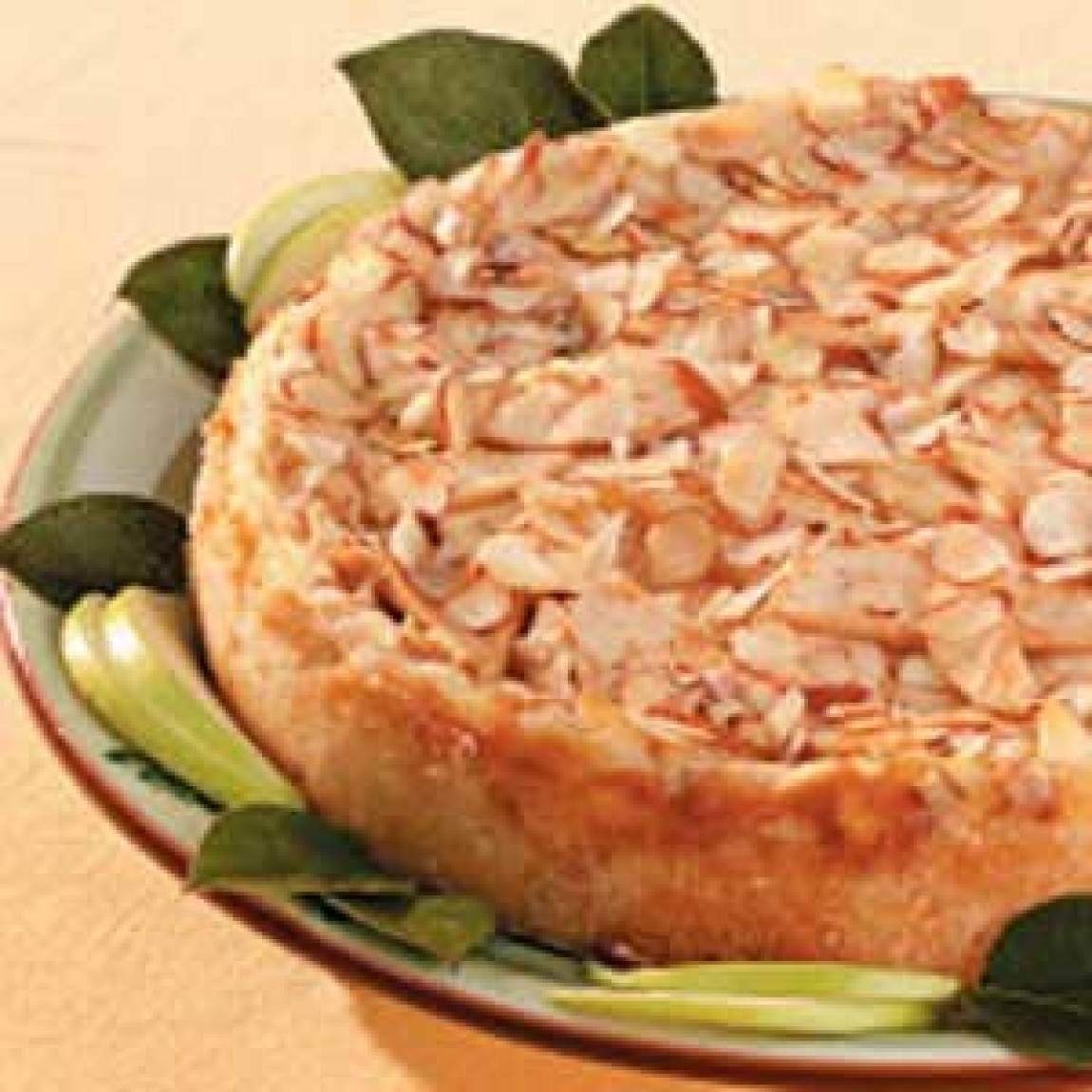 Almond Apple Cheesecake Recipe | Just A Pinch Recipes