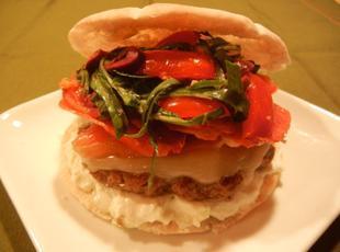 Grecian Ouzo Burgers with Feta Tzatziki Sauce Recipe