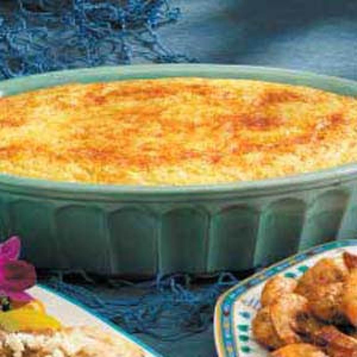 Corn Bread Pudding Recipe | Just A Pinch Recipes