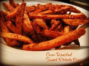 Oven Roasted Sweet Potatoe Fries