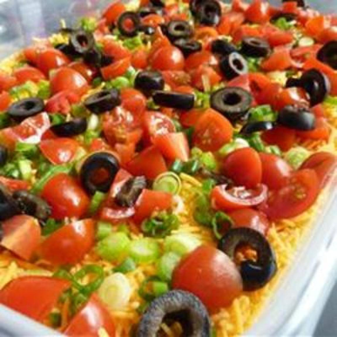 Seven-layer Dip Recipe — Dishmaps