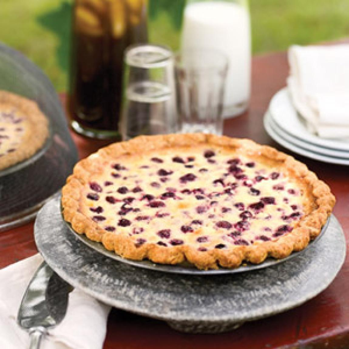 Raspberry Custard Pie Recipe | Just A Pinch Recipes