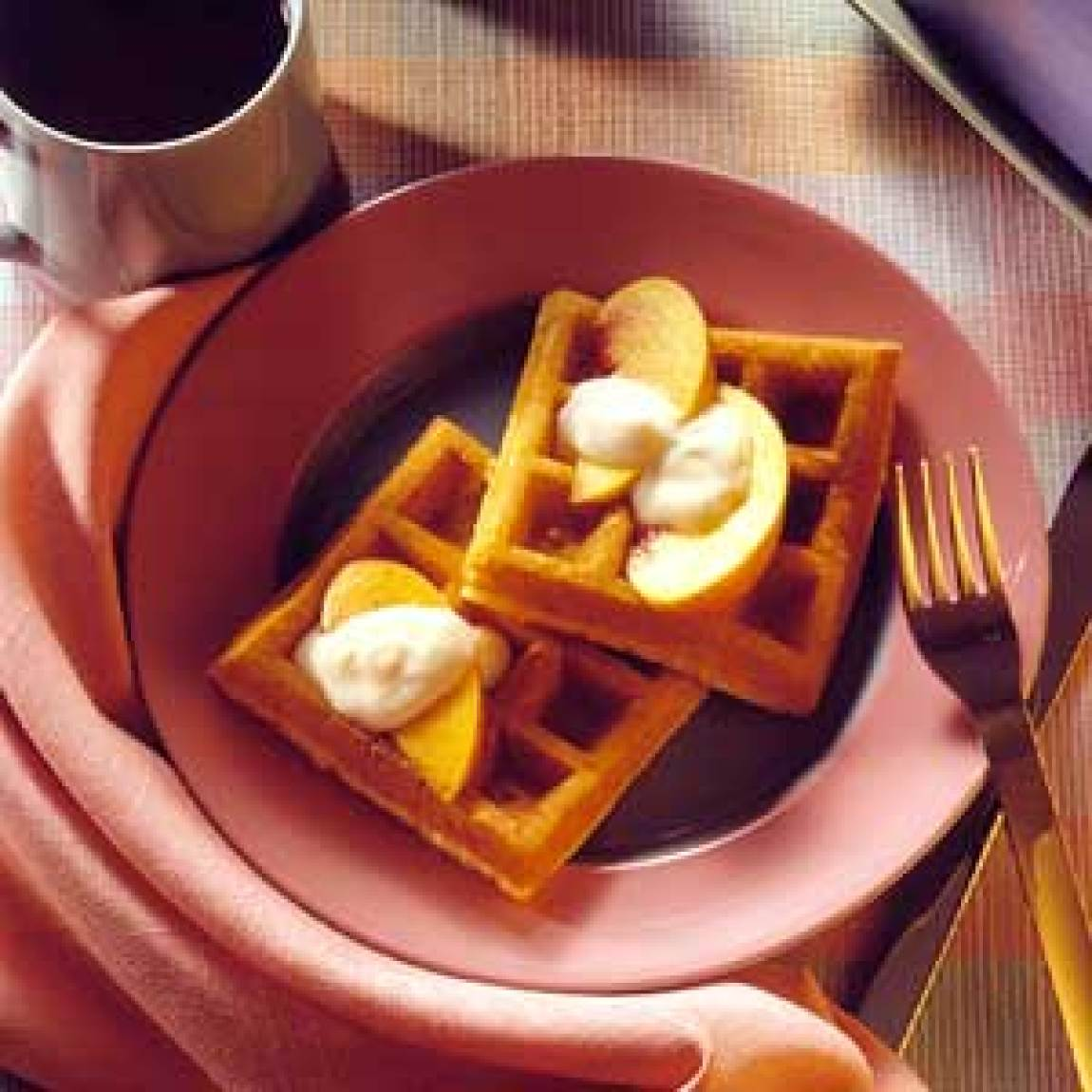 Cream Cheese Waffles Recipe | Just A Pinch Recipes