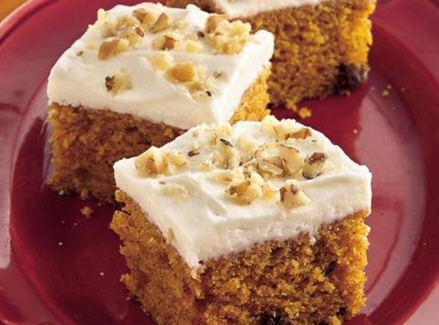 Pumpkin Bars w Cream Cheese Icing Recipe