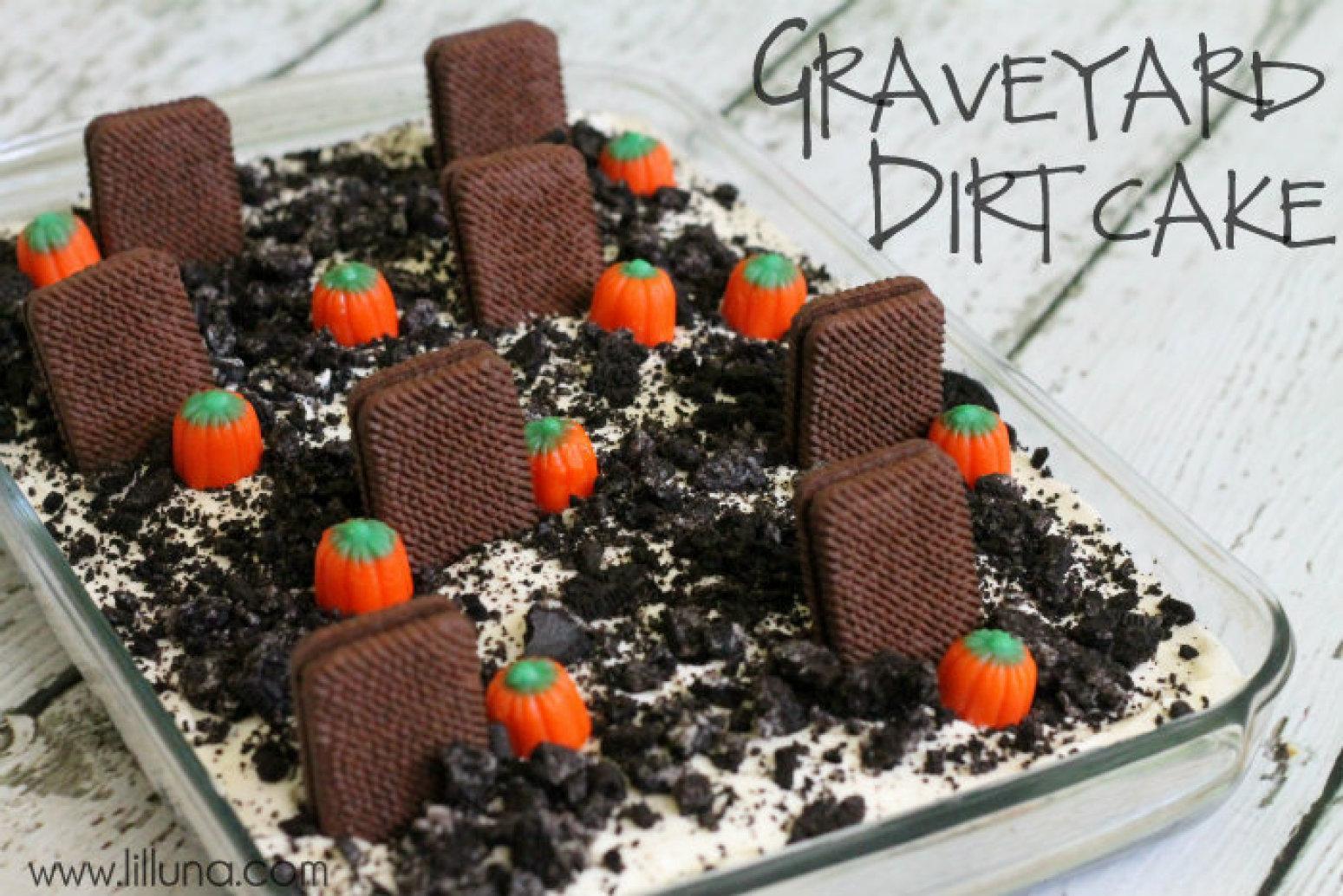 Dirt Cake Ideas For Halloween : Graveyard Dirt Cake Recipe Just A Pinch Recipes